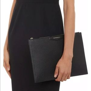 Givenchy Black Large Antigona ZIP Pouch Clutch